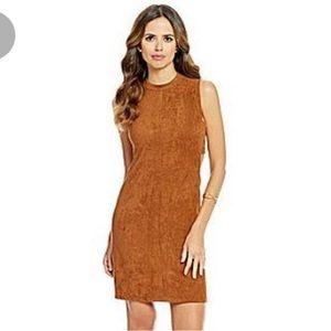 Gianni Bini Suede Camel Cutout Dress Small
